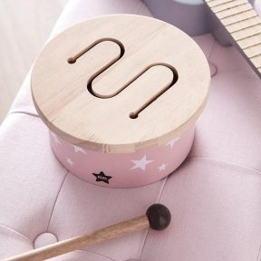 Kids-Concept-Pink-Toy-Drum-with-Drumstic