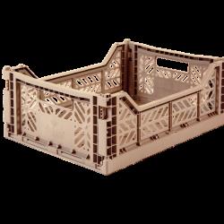 Aykasa Folding Crate - Warm taupe