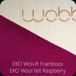 Wobbel Original Transparent Lacquer with Felt - Raspberry